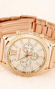Mulheres Relógio Elegante Quartz Lega Banda Dourada marca-