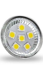 2W GU4(MR11) LED-spotpærer MR11 6 SMD 5050 200 lm Kjølig hvit Dekorativ DC 12 V