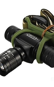 Hovedlygter (Justerbart Fokus / Vanntett / Genopladelig / Nedslags Resistent) - LED 3 Tilstand 350/150/100 Lumens 14500 / AACree XR-E