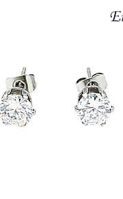 baoguang®women fine sølv stud stainess øredobb med diamant montert