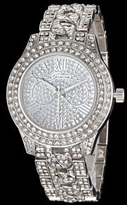 Relógio Casual Quartzo imitação de diamante Banda Prata Dourado Ouro Rose