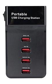 pioppo eu spina 4 porte usb portatile stazione di ricarica per Samsung / iphone / ipad / nokia / htc