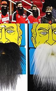 1pcs james endurecer&Santa gadget de festa branco halloween barba postiça brincadeira preto Noel (cores sortidas, 20x18cm)