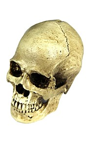 halloween 2-i-1 emulational harpiks kranium dekoration - hvidgul
