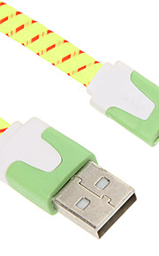 15CM Micro USB Weaving Noodle Charger Cable