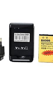 yi-yi ™ 3.7v 2680mah batterij met usb ons stekker acculader en EU plug voor Xperia TX / LT29i / xperia l / s36h / BA900