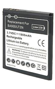 yi-yi ™ 3.7v 1900mah batería li-ion recargable para xperia tx / LT29i / xperia j / st26i / xperia l / s36h / BA900