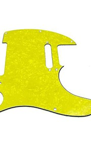 3ply pickguard for tele style guitar, perle gul