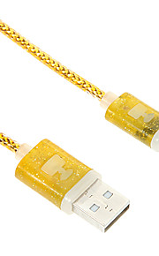 micro usb cabo do carregador brilhando perfume
