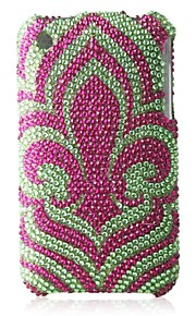 cyan bunn blomst bling case pc vanskelig sak for iPhone 3G / 3GS