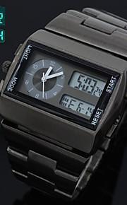 relógio de aço cheio de esportes multi-funcional analógico-digitais relógio de pulso dos homens levou relógio de quartzo (cores sortidas)