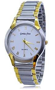 aço inoxidável cinta 5m relógios vestido de luxo à prova d'água analógico de pulso de quartzo dos homens