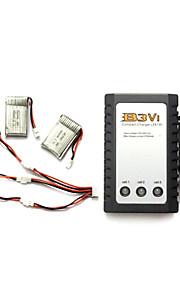 SYMA x5c / x5c-1 opdagelsesrejsende dele x5c-11 3.7v 680mah lipo batteri 3 i 1 kabel linje x 5pcs m / b3 oplader