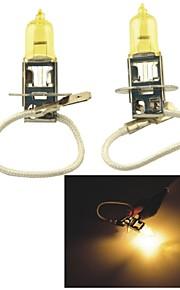 Carking™ KOBO H3 12V 100W 3000K 550LM Yellow Light Car Halogen Headlight(2 CPS)