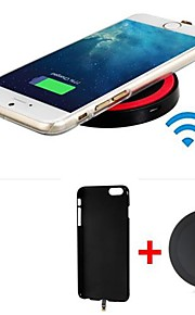 Qi Standard Wireless Charger Receiver Back Cover + Wireless Transmitter for iPhone 6 / iPhone 6s