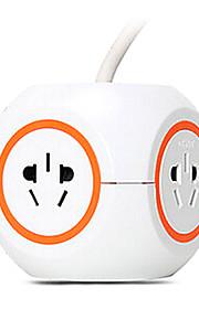 CHNT uitbreiding socket met 3m gb plug ac voedingskabel oranje