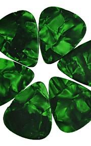 médio guitarra 0,71 milímetros pega palhetas pérola celulóide 100pcs-pack verde