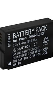 DMW-BLD10 - Li-ion - Batterij - voor for  Panasonic DMC-G3KGK DMC-G3KK DMC-G3KR  DMC-G3T DMC-G3W  DMC-G3WGK DMC-GF2 DMC-GF2C - 7.2V - ( V