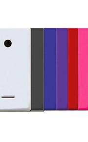 cubierta de la caja - Microsoft Lumia 435 - Plástico - Cubierta Trasera - Color Sólido -