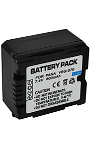 VW-VBG070 - Li-ion - Batterij - voorfor Panasonic SD9 SD20 SD100 SD300 SD350 SD600 SD707 SDT750 HS9 HS10 HS20 HS100GK HS200GK HS250 HS300