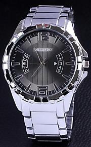 relógios do cinturão generoso aço dos homens de moda simples