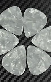 médio guitarra 0,71 milímetros pega palhetas pérola celulóide branco 100pcs-pack