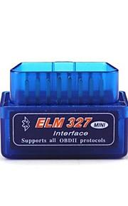 ELM327 Latest Version V2.1 Bluetooth Super Mini ELM327 OBD2 II Scan Tool Car Auto Diagnostic Tool for Windows Blue