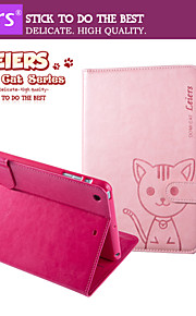 leiers® domi katt magnetisk flip läder plånbok kortplats fall står för iPad Mini 1/2/3 (blandade färger)