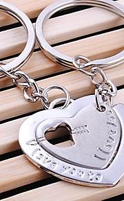 dobbelt hjerte bryllup nøglering nøglering til elsker Valentinsdag (et par)