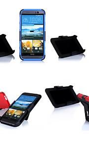 스트라이프 한 디자인 내진성 백 커버 케이스 TPU 3 HTC 하나 (M9) (모듬 색상)에 대한 서