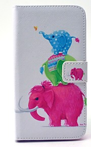 Per Samsung Galaxy Custodia A portafoglio / Porta-carte di credito / Con supporto Custodia Integrale Custodia Con elefante Resistente