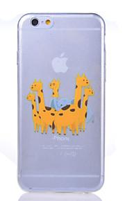 Bakdeksel - iPhone 6 - Tegneserie/Spesielt design/Gjennomsiktig/Original/Ultratynn/Dyremønstret/Holder/spiser Apple-logo ( Multifarget ,