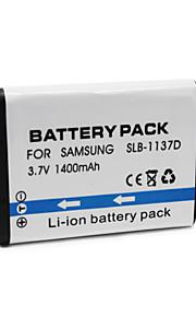 SLB-1137D - Li-ion - Batterij - voor for  Samsung  NV11/NV30/NV103/NV106/NV100HD/L74W/i85/i80/i100 - 3.7V - ( V ) - 1400mAh - ( mAh )