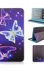 7,9 hüvelykes pillangó mintás műbőr tokban állvány és toll iPad mini 1/2/3