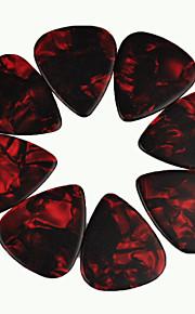 guitarra 1,5 milímetros pesado pega palhetas pérola celulóide vermelho 50pcs-pack