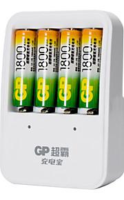 GP ons plug batterijlader voor AA / AAA oplaadbare Ni-MH batterij (inbegrepen 4x1800mah aa)