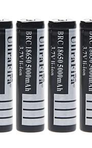 ullra fira 3.7V 5000mAh 18650 oplaadbare lithium-ion batterij (4 stuks)