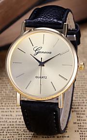 Mulheres Relógio de Moda Quartz PU Banda Relógio de Pulso Preta / Branco