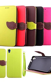 HTC 욕망 820 (모듬 색상)에 대한 펜 5 인치 잎 패턴 지갑 가죽 케이스