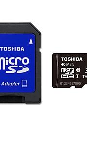 originale toshiba 32gb klasse 10 MicroSDHC hukommelseskort UHS-I med sd adapter R: 40MB / s