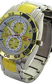 mostrador redondo relógio ocasional cinta liga de quartzo dos homens assistir novo relógio de pulso de moda (cores sortidas)