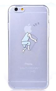 eple sovnet mønster TPU myk deksel for iPhone 6