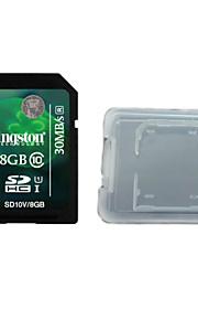classe cartão original kingston digital de 8 gb 10 sd da memória e da caixa de cartão de memória