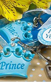 bebê chuveiro dom coroa chaveiro anel chave favor (10.3 * 5.8 * 2,1 centímetros)
