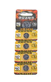 Desay CR1632 3v hoge capaciteit lithium knoopcel batterijen (5 stuks)