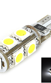 T10 1.62W 126lm 6000~6500K 9-5050 SMD LED White Light Car Dashboard Lamp - White + Yellow