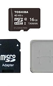 Toshiba 16gb class10 40m / s cartão de memória eo cartão de memória e caixa de adaptador do cartão de memória