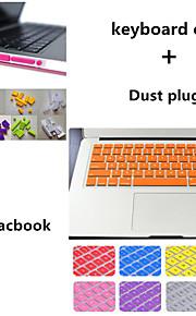 colore solido coperchio e polvere tastiera tpu tappi di alta qualità per MacBook Pro da 13,3 pollici (colori assortiti)
