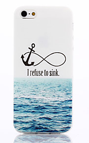 For iPhone 5 Case Pattern Case Back Cover Case Anchor Soft TPU iPhone SE/5s/5
