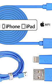 lp mfi zertifizierten Blitz 8 pin Datensynchronisation und usb-Kabel für iphone6 ​​6plus 5s 5c 5 ipad Kabel 3m